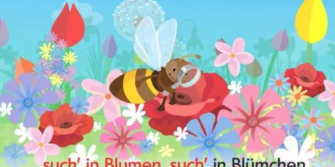 Wortschatztraining mit dem Kinderlied Summ, Summ, Summ
