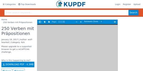DaF DaZ Kärtchen / Tabelle 250 Verben mit Präpositionen