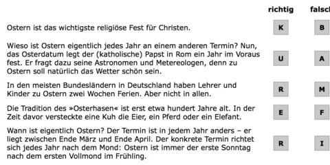 Thema Ostern: Über 20 Materialien für den Deutschunterricht