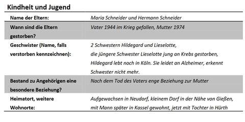 DaF DaZ Arbeitsblatt Der Biografiebogen