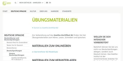 DaF DaZ Test Goethe-Zertifikat B2 - Übungsmaterialien 2018
