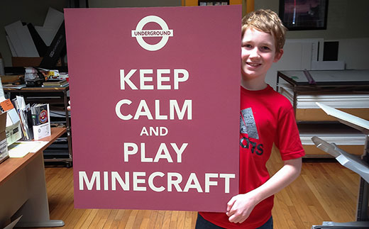plakat: keep calm and play mindcraft
