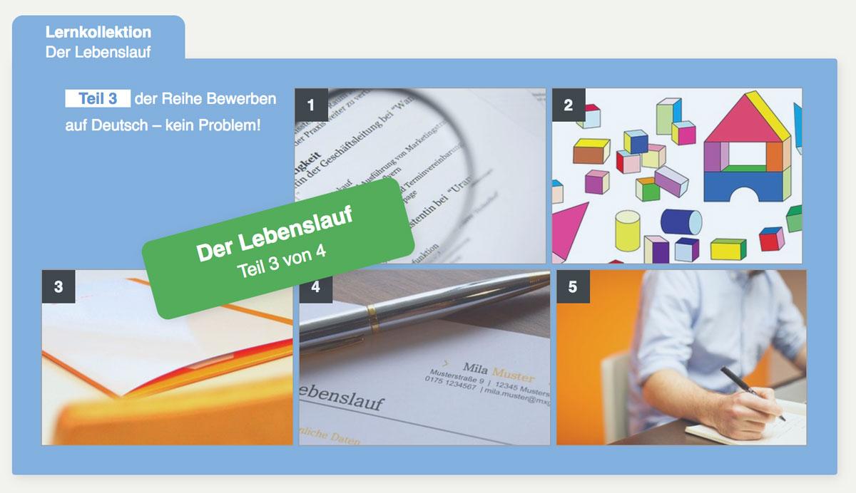 Der Lebenslauf Bewerben auf Deutsch – ganz einfach! Lernkollektion ...