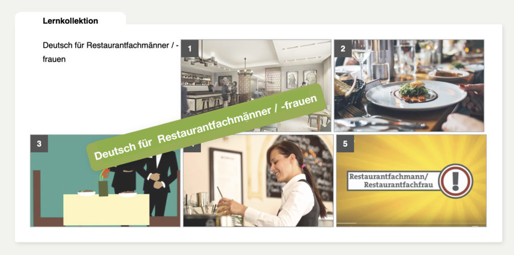 DaF DaZ Kurs - Restaurantfachmänner / -frauen